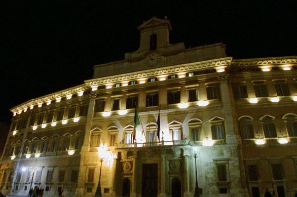 Roma, Palazzo Chigi di notte