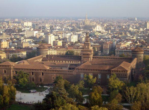 Milano, Castello sforzesco e Duomo